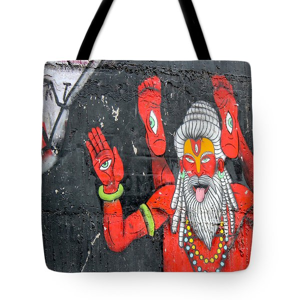 Crazy Yogi, Rishikesh Tote Bag