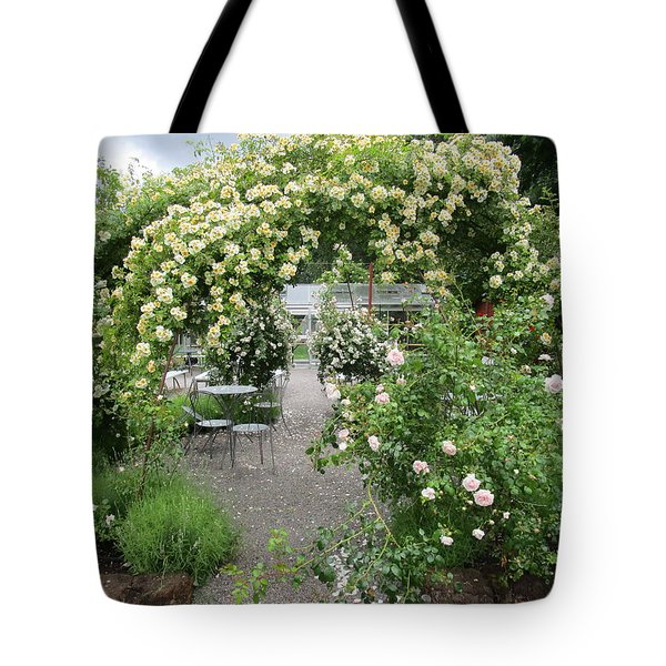 Cream-colored Roses With Your Coffee Tote Bag