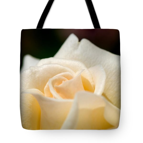 Cream Rose Kisses Tote Bag by Lisa Knechtel