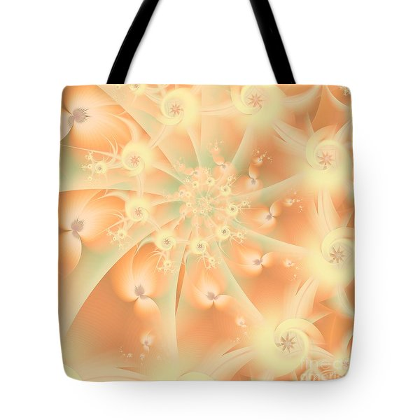 Tote Bag featuring the digital art Creamsicle Mint by Michelle H