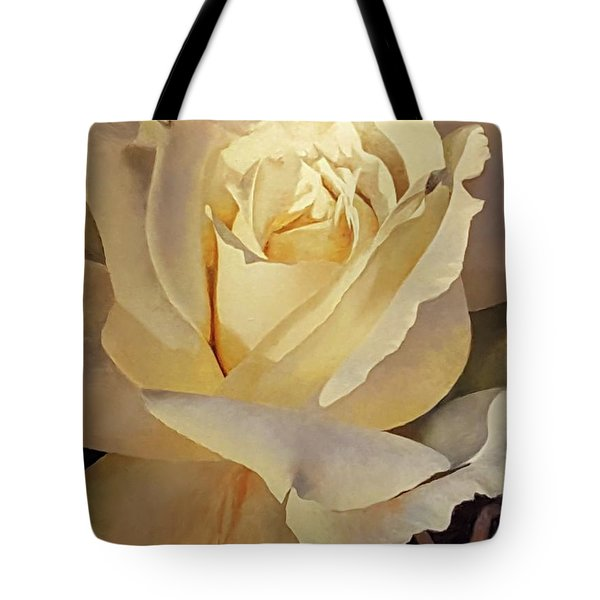 Creamy Rose Tote Bag