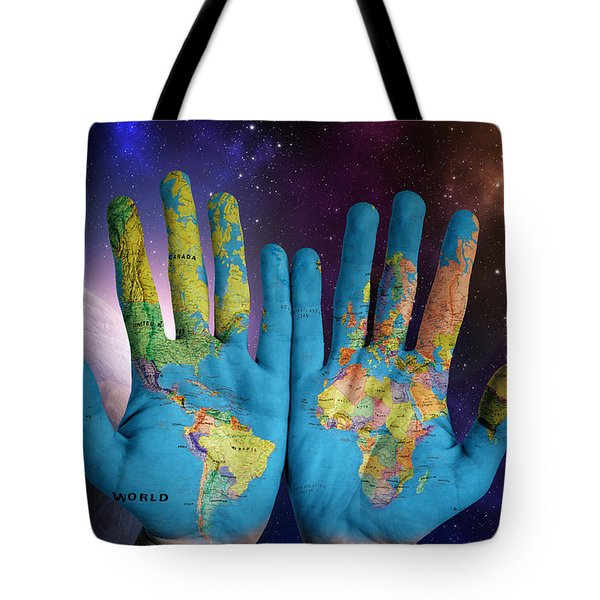 Created By God's Own Hands Tote Bag