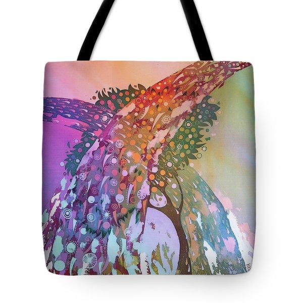 Creation Of An Orange Tree Tote Bag by Kate Krivoshey