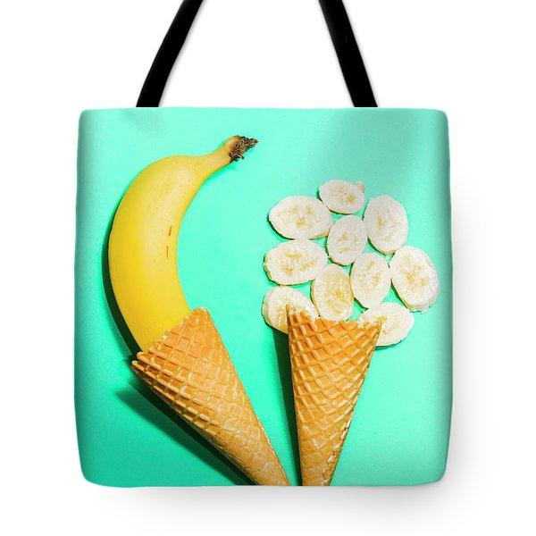 Creative Banana Ice-cream Still Life Art Tote Bag