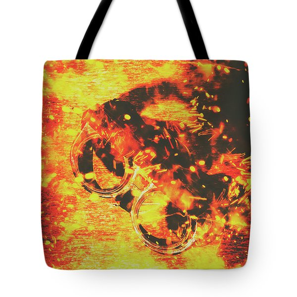 Creative Industrial Flames Tote Bag