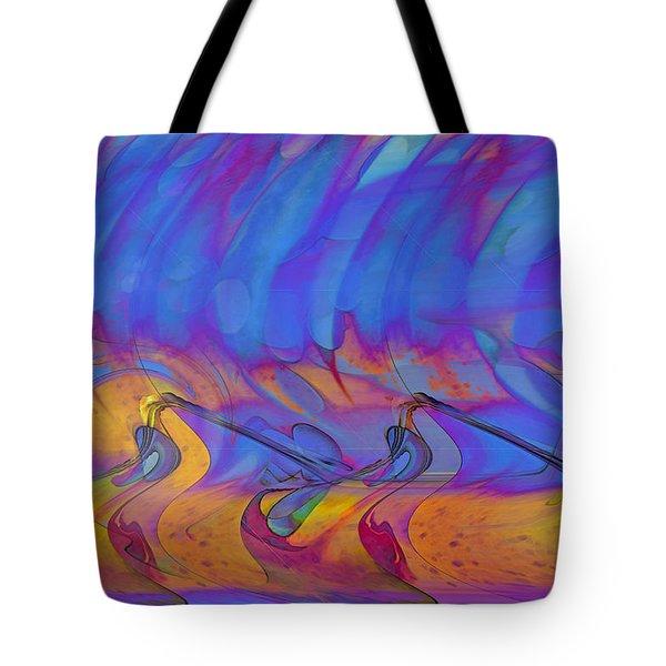 Tote Bag featuring the digital art Creative Motion by Linda Sannuti