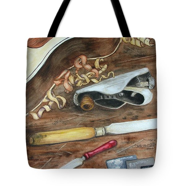 Tote Bag featuring the painting Creative Process by Mary Kay Holladay