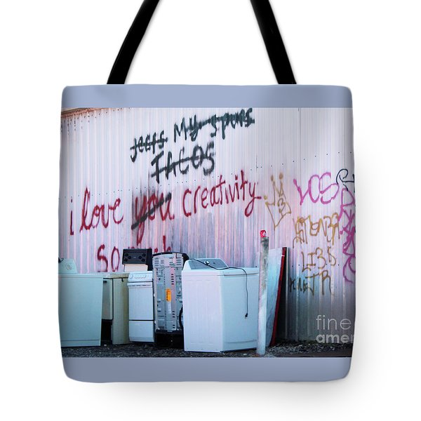 Tote Bag featuring the photograph Creatively Yours by Joe Jake Pratt