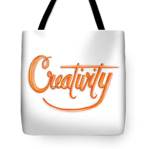 Tote Bag featuring the drawing Creativity by Cindy Garber Iverson