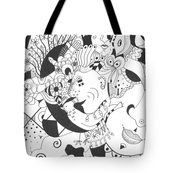 Creatures And Features Tote Bag by Helena Tiainen