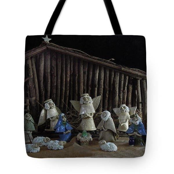Creche Sraight On View Tote Bag by Nancy Griswold
