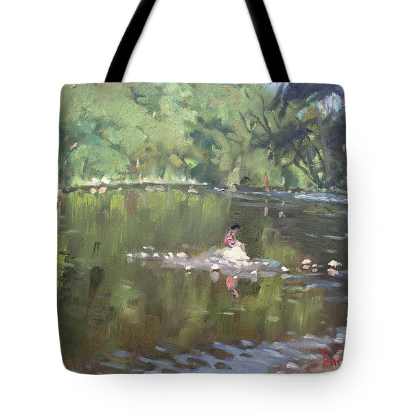 Credit River By Norval On Tote Bag