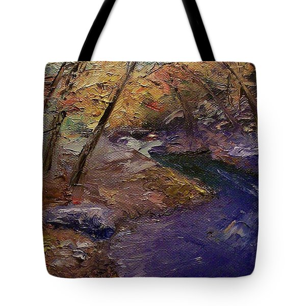 Creek Bank Tote Bag