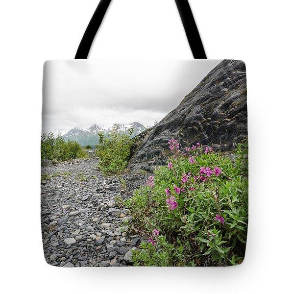Creek Bed Flowers Tote Bag