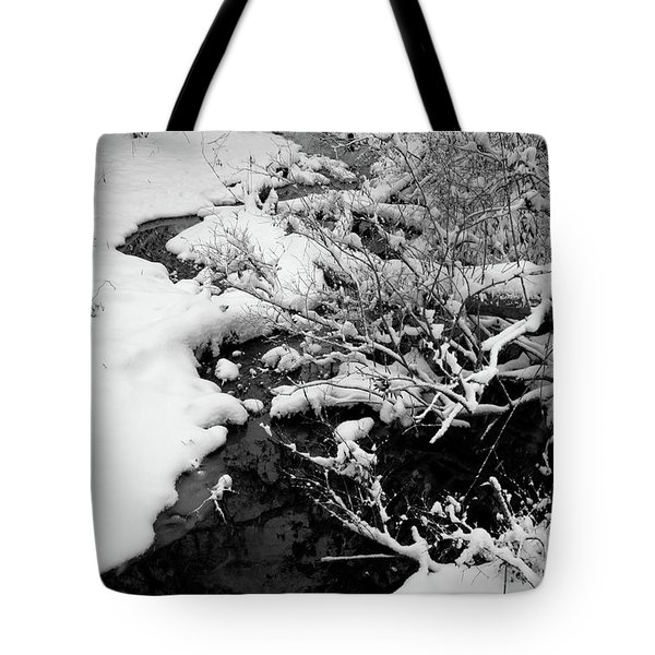 Creek Cloaked In Winter Tote Bag by Scott Kingery
