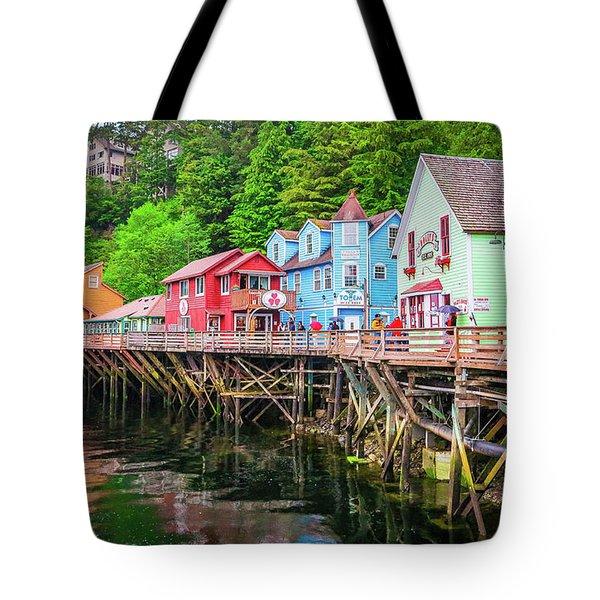 Creek Street Ketchikan Alaska Tote Bag