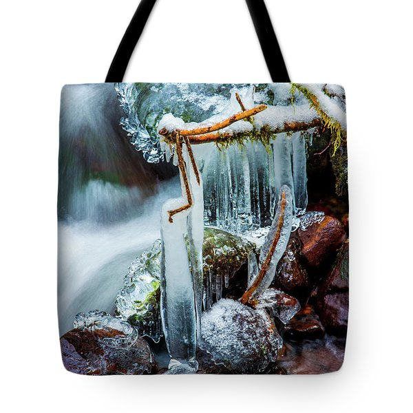 Creekside Icicles Tote Bag