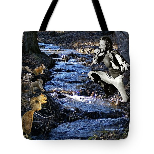 Tote Bag featuring the photograph Creekside Serenade By Ian by Ben Upham