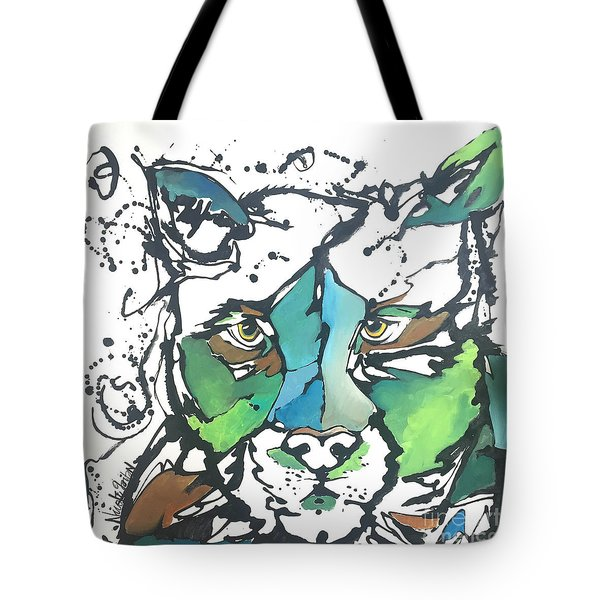 Tote Bag featuring the painting Creep by Nicole Gaitan