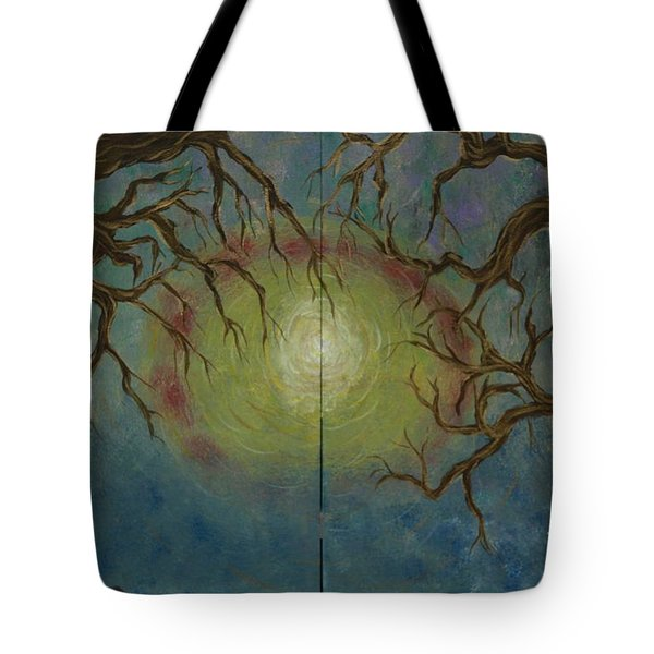 Tote Bag featuring the painting Creeping by Jacqueline Athmann
