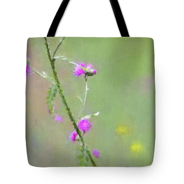 Creeping Thistle Tote Bag