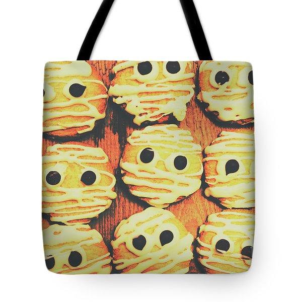 Creepy And Kooky Mummified Cookies  Tote Bag