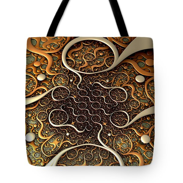 Tote Bag featuring the digital art Creepy Crawlers by Lyle Hatch