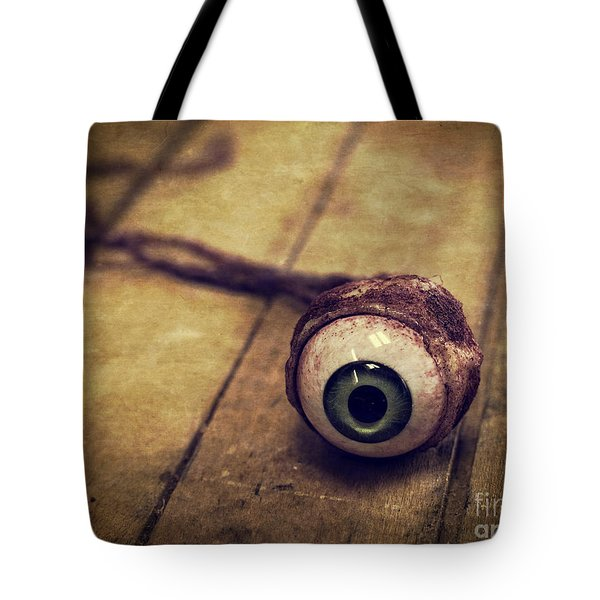 Creepy Eyeball Tote Bag