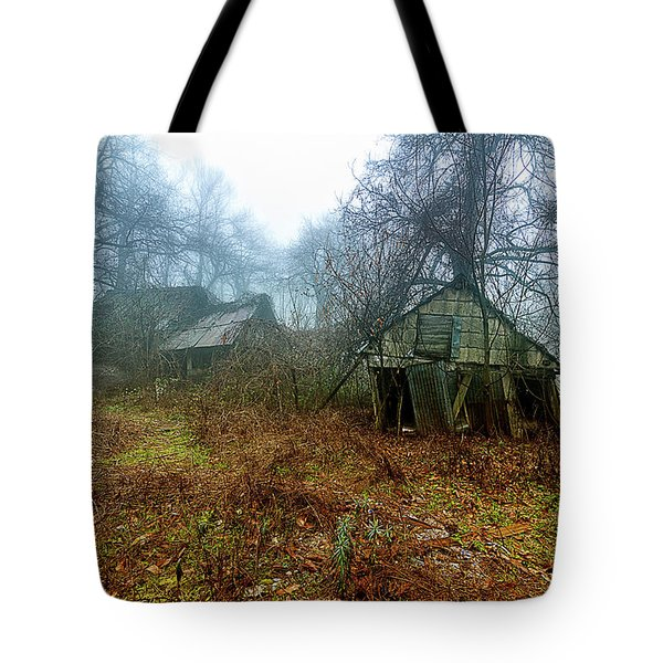 Tote Bag featuring the photograph Creepy House by Enrico Pelos