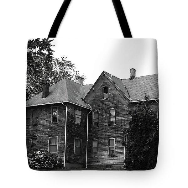 Creepy Old House Tote Bag