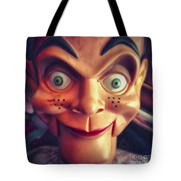 Creepy Puppet Tote Bag