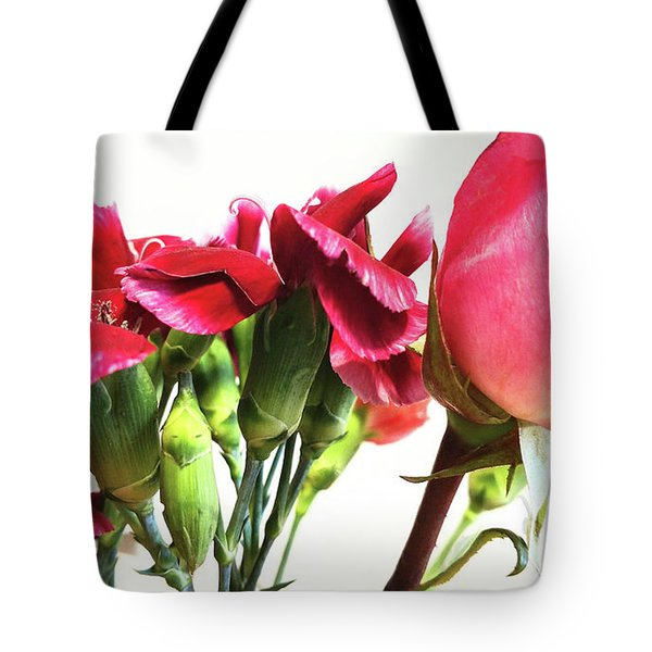 Creepy-red Flowers Tote Bag