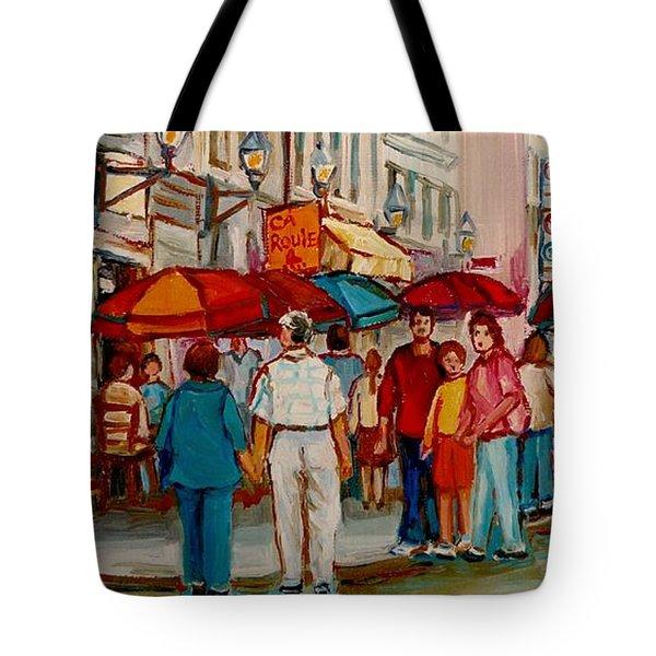 Creme De La Creme Cafe Tote Bag by Carole Spandau