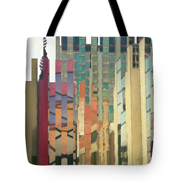 Tote Bag featuring the digital art Crenellations by Gina Harrison