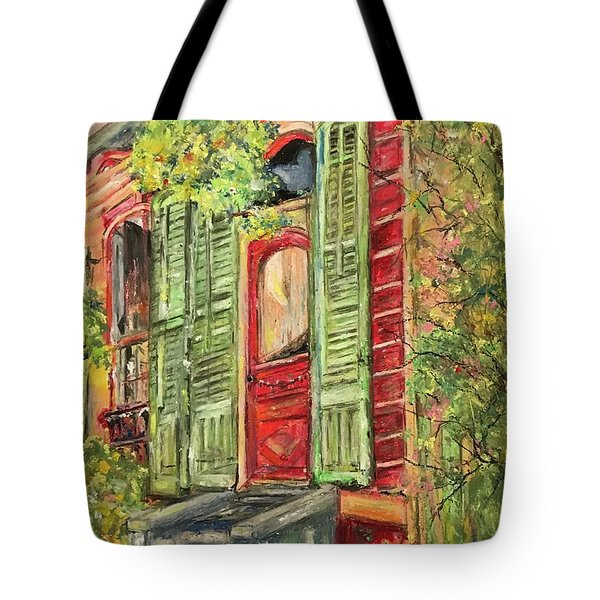 Creole Painted Lady In The Marigny Tote Bag