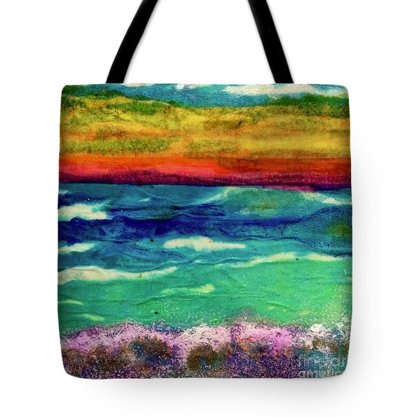 Crepe Paper Sunset Tote Bag