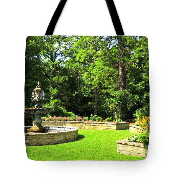 Crescent Hotel Fountain Eureka Springs Arkansas Tote Bag