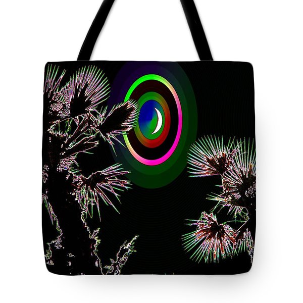 Crescent And Palms 3 Tote Bag by Tim Allen