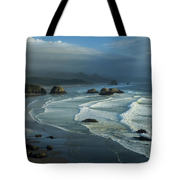 Crescent Beach And Surf Tote Bag
