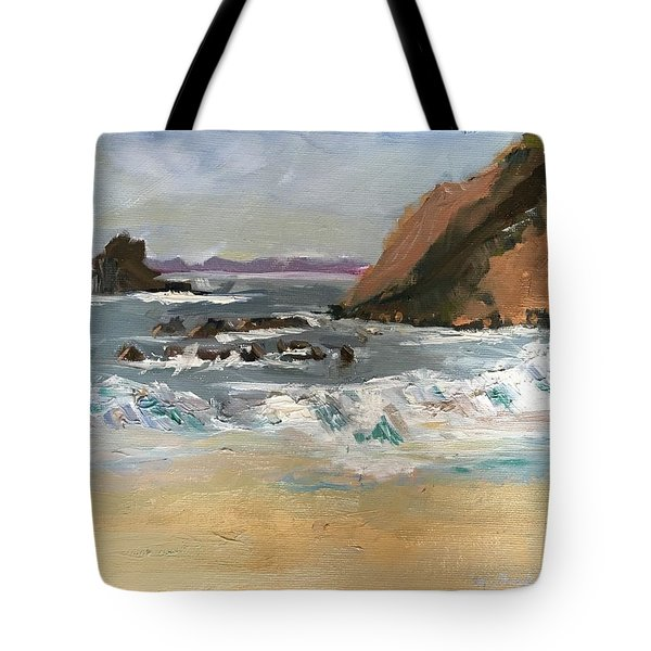 Crescent Beach At Laguna  Tote Bag by MaryAnne Ardito