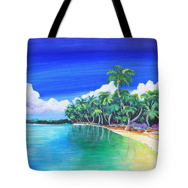 Tote Bag featuring the painting Crescent Beach by Patricia Piffath