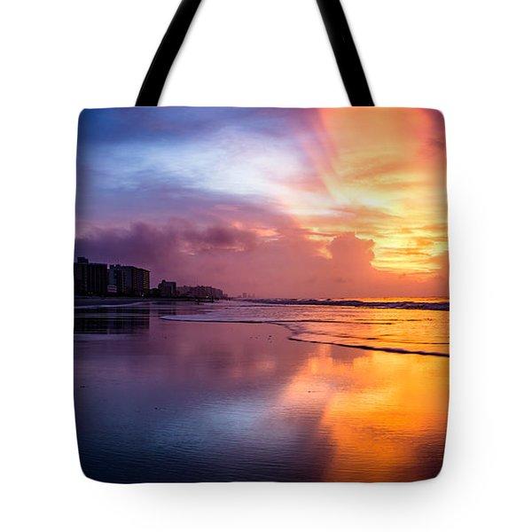 Crescent Beach Sunrise Tote Bag