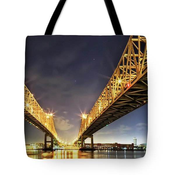 Crescent City Bridge In New Orleans Tote Bag