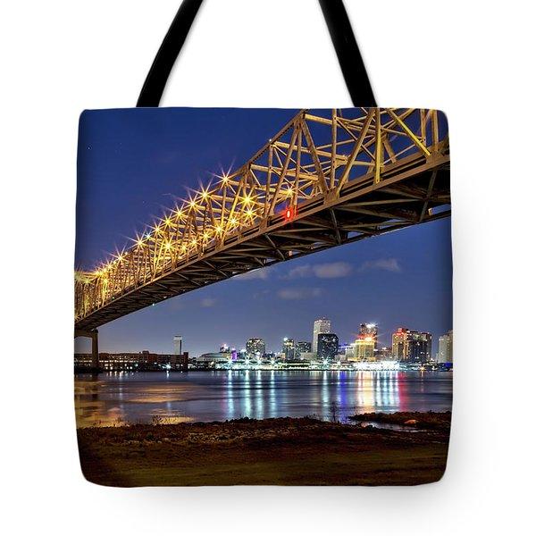 Crescent City Bridge, New Orleans Tote Bag