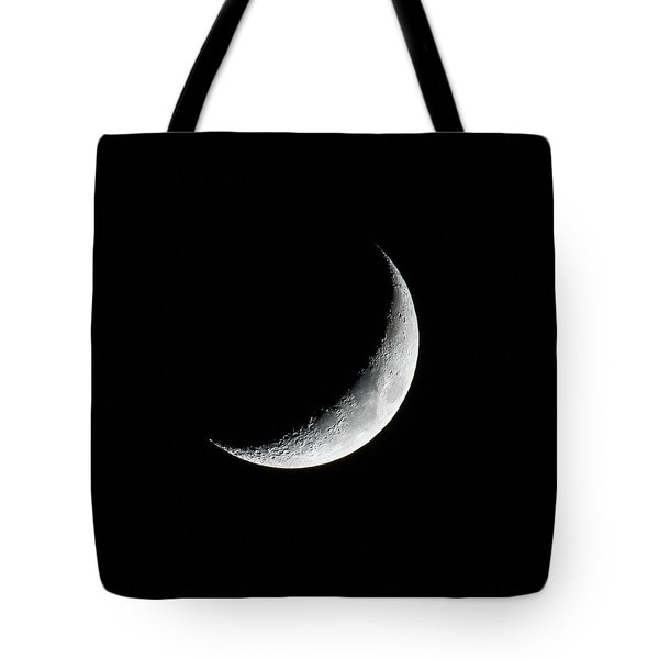Tote Bag featuring the photograph Crescent Moon by Darryl Hendricks