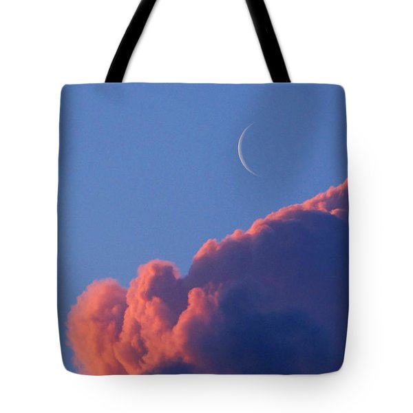 Crescent Moon In The Pink Tote Bag