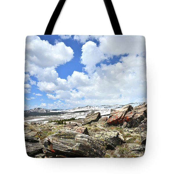 Crest Of Big Horn Pass In Wyoming Tote Bag