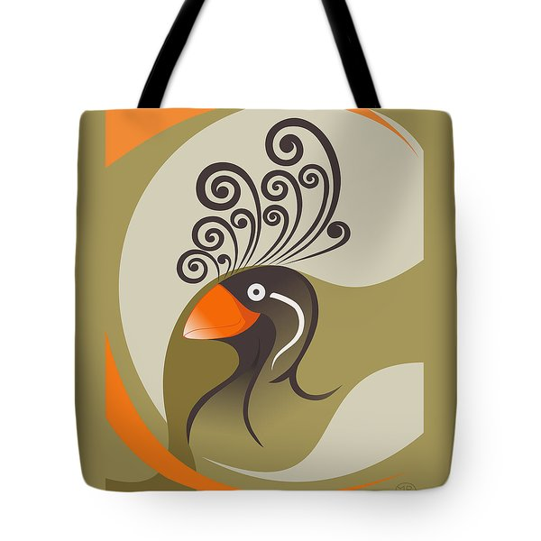 crestedAUKLET Tote Bag by Mariabelones ART