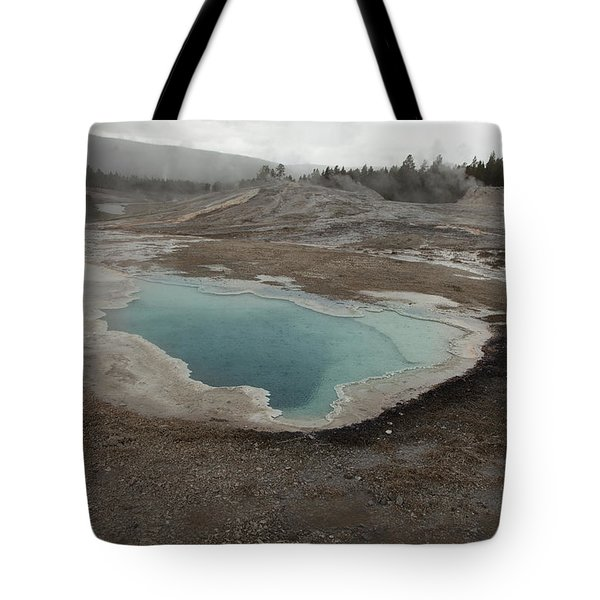 Crested Pool, Upper Geyser Basin, Yellowstone Tote Bag