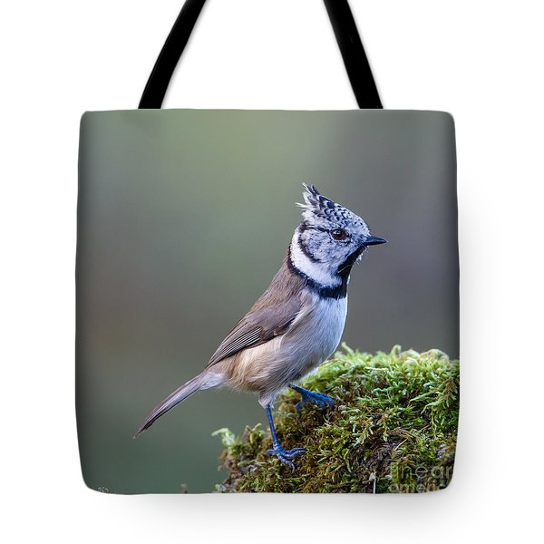 Crested Tit Tote Bag by Torbjorn Swenelius